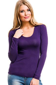 Фиолетовая кофточка с длинным рукавом Mondigo