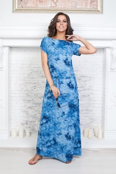 Длинное голубое платье  Angela Ricci