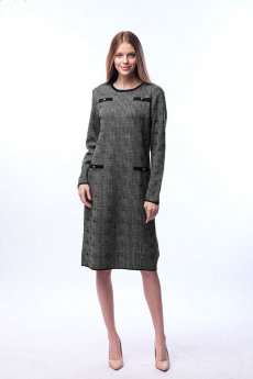Теплое вязаное платье Kvinto