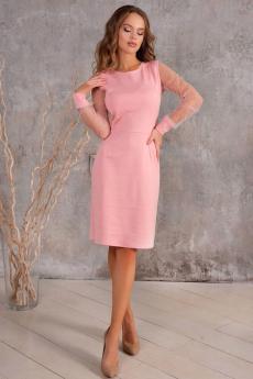 Розовое котельное платье со стразами Open-Style